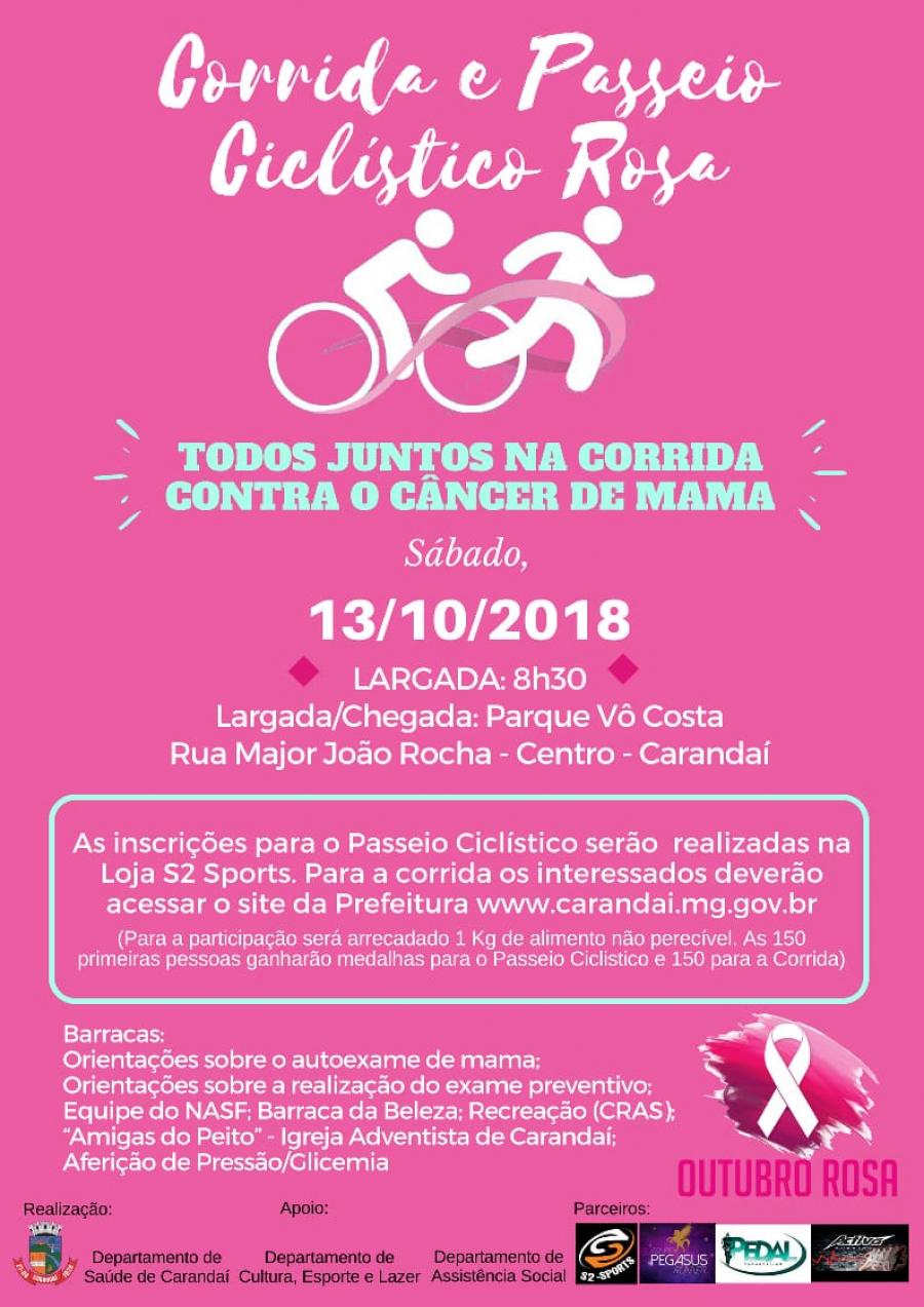 Corrida e Passeio Ciclístico Rosa