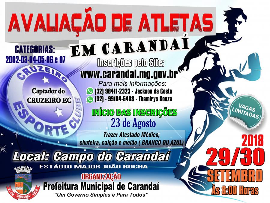 Ficha de Inscrição de Avaliação de Atletas
