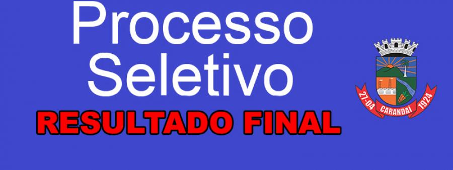 RESULTADO FINAL EDITAL Nº 006/2019 PROCESSO SELETIVO SIMPLIFICADO