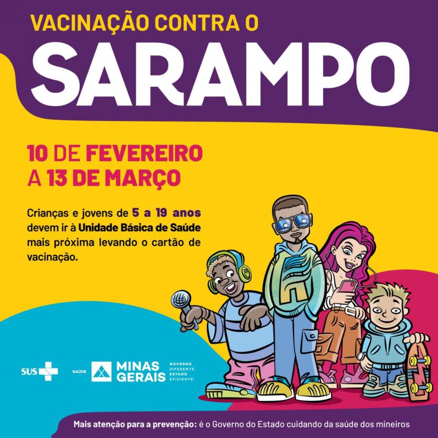 Campanha de vacinação contra sarampo começou segunda-feira (10)