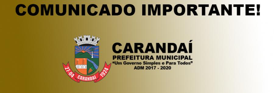 COMUNICADO DO DEPARTAMENTO DE AGRICULTURA