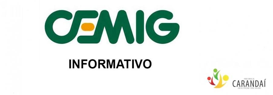 Aviso de desligamento de energia - CEMIG