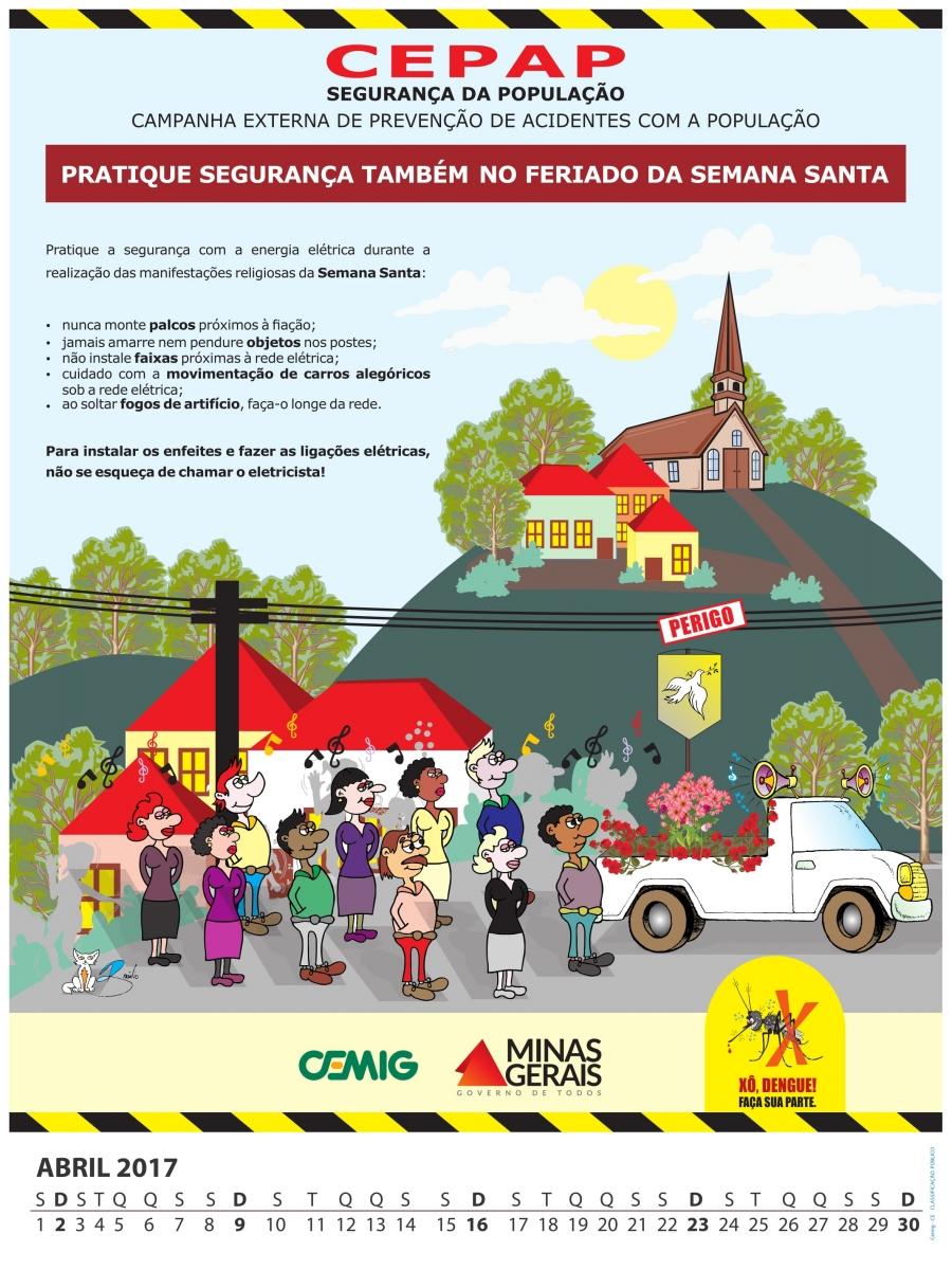 Cartaz Calendário CEPAP