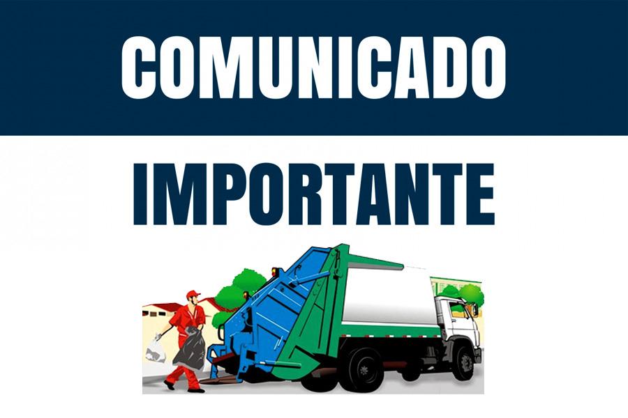 COMUNICADO – DEPARTAMENTO DE LIMPEZA URBANA