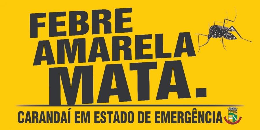COMEÇA VARREDURA CONTRA FEBRE AMARELA EM CARANDAÍ